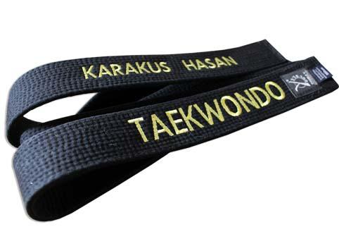 ceinture judo personnalisée