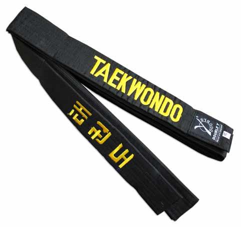 Ceinture noire Taekwondo brodée 519b1eb508d