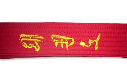 0d8664bf8ab0 Accessoires, ceinture noire, ceinture brodée pour taekwondo, hapkido