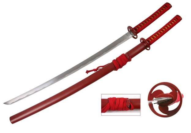 Vente De Katana De Decoration : Katana rouge