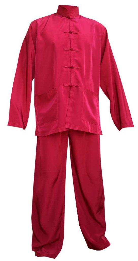 Chinois Chinois Vêtement Vêtement Soie En En Soie Rouge 92WDYEeHI